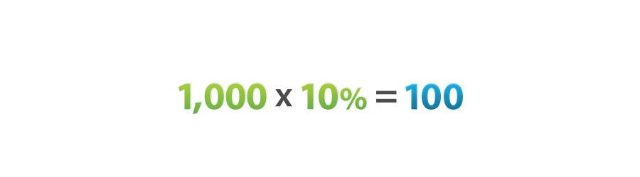 10% leverage